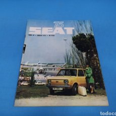 Coches: REVISTA SEAT NUM. 97 AÑO 1975. PÓSTER CENTRAL SEAT 133. Lote 194369792