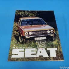 Coches: REVISTA SEAT NUM. 98 AÑO 1975. PÓSTER CENTRAL GAMA SEAT. Lote 194370298