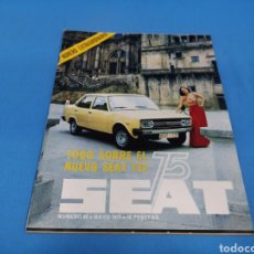 Coches: REVISTA SEAT NUM. 99 AÑO 1975. PÓSTER CENTRAL SEAT 131. Lote 194371152