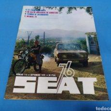 Coches: REVISTA SEAT NUM. 114 AÑO 1976. Lote 194378175