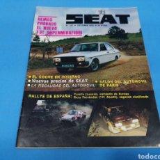 Coches: REVISTA SEAT NUM. 137 AÑO 1978. Lote 194389415