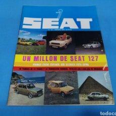 Coches: REVISTA SEAT NUM. 141. PÁGINAS CENTRALES SEAT 127. Lote 194390878