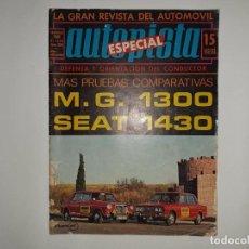 Coches: AUTOPISTA Nº 577 AÑO 1970, M.G. 1300, SEAT 1430, FERIA GINEBRA, F1 SUDAFRICA POSTER JACKIE STEWART. Lote 194394927