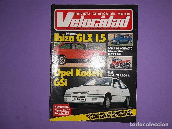 VELOCIDAD 1984 Nº 1207 PRUEBAS IBIZA GLX 1.5 OPEL KADETT GSI RALLYE RACE-CATALUÑA DE TIERRA (Coches y Motocicletas Antiguas y Clásicas - Revistas de Coches)