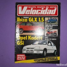Coches: VELOCIDAD 1984 Nº 1207 PRUEBAS IBIZA GLX 1.5 OPEL KADETT GSI RALLYE RACE-CATALUÑA DE TIERRA . Lote 194395847