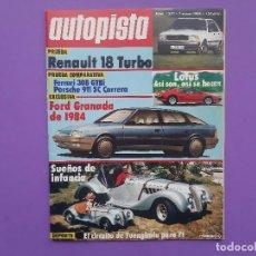 Coches: AUTOPIATA Nº 1277 AÑO 1984 CIRCUITO DE FUENGIROLA PARA F1 BUGATTI TIPO 52 AÑOS 3O . Lote 194522122