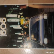 Coches: CATALOGO PEUGEOT 505 1987. Lote 194596958