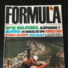 Coches: REVISTA FORMULA Nº. 71 SEPTIEMBRE 1972 - GP INGLATERRA / 24 H SPA / YANKEE 500 / GP ALEMANIA. Lote 194602843