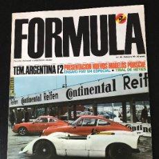 Coches: REVISTA FORMULA Nº. 28 FEBRERO 1969 - PORSCHE PRESENTACION / FIAT 124 ESPECIAL / TRIAL NAVIDAD. Lote 194603126