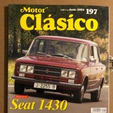Coches: MOTOR CLÁSICO N° 197 (JUNIO 2004). DOSSIER SEAT 1430, BMW 326, BUGATTI T-51,.... Lote 194638182