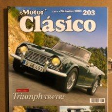 Coches: MOTOR CLÁSICO N° 203 (DICIEMBRE 2004). DOSSIER TRIUMPH TR4/TR5, IMPERIAL CROWN COUPÉ. Lote 194638583