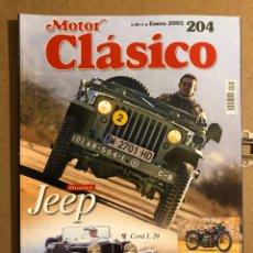 Coches: MOTOR CLÁSICO N°204 (ENERO, 2005). DOSSIER JEEP, CORD L 29, EXCELSIOR HENDERSON K DE LUXE,... Lote 194638683
