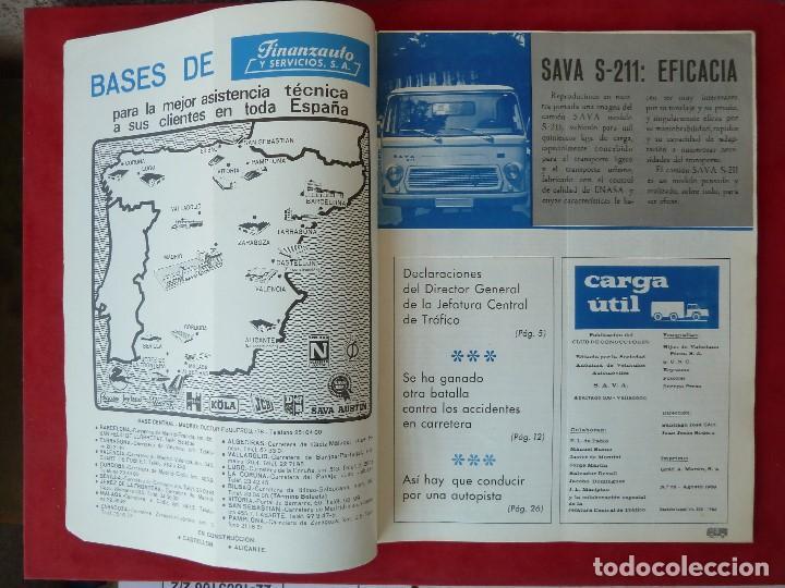 Coches: ANTIGUA REVISTA-CARGA UTIL·AGOSTO 1969-EDITADA POR S.A.V.A. - Foto 3 - 194644968
