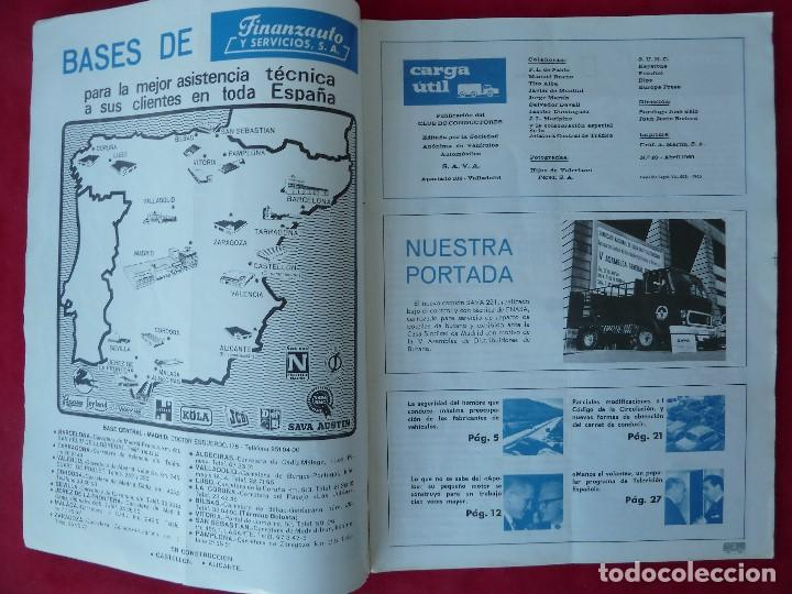 Coches: ANTIGUA REVISTA-CARGA UTIL·ABRIL 1969-EDITADA POR S.A.V.A. - Foto 3 - 194645323