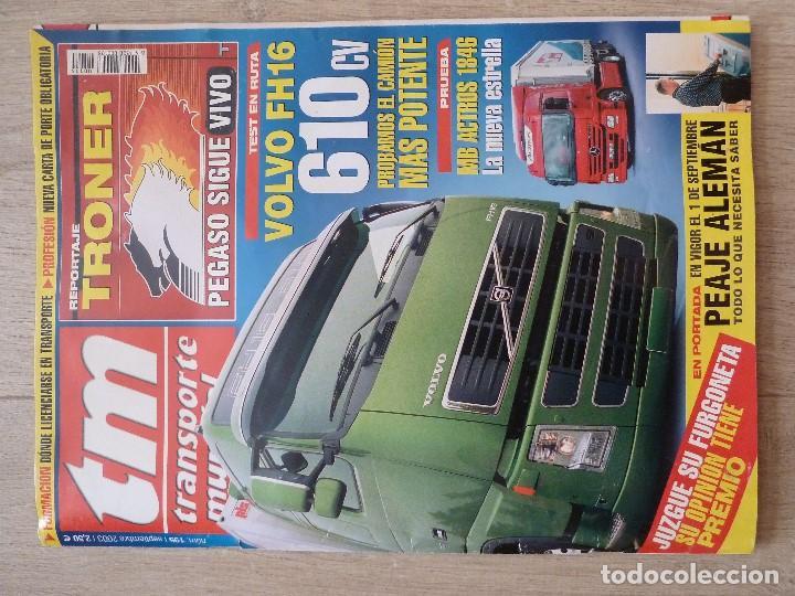 REVISTA DEL CAMION-TM·TRANSPORTE MUNDIAL-Nº195 SEPTIEMBRE 2003(VOLVO FH16,PEGASO TRONER...) (Coches y Motocicletas Antiguas y Clásicas - Revistas de Coches)
