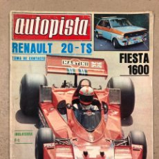 Coches: AUTOPISTA N° 962 (JULIO 1977). RENAULT 20 TS, MERCEDES CLASE S, RALLYES, FÓRMULA 1,... Lote 194922210