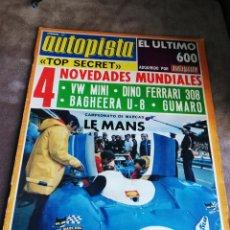 Coches: AUTOPISTA Nº 748 - 9/JUNIO/1973 - NOVEDADES MUNDIALES. Lote 194950586