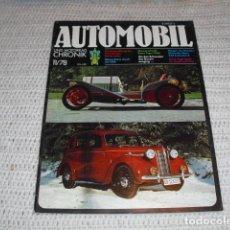 Coches: AUTOMOBIL UND MOTORRAD CHRONIK 11/78. Lote 194957477