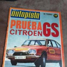 Coches: AUTOPISTA Nº 754 - 21/JULIO/1973 - CITROËN GS. Lote 195006606