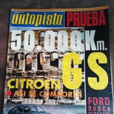 Coches: AUTOPISTA Nº 765 - 6/OCTUBRE/1973 - CITROËN GS - DODGE 3700 GT AUTOMÁTICO. Lote 195007927