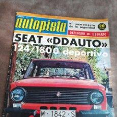 Coches: AUTOPISTA Nº 771 - 17/NOVIEMBRE/1973 - SEAT 124 1800 DDAUTO -. Lote 195008327