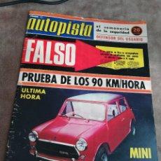 Coches: AUTOPISTA Nº 774 - 8/DICIEMBRE/1973 - AUTHI MINI COOPER 1300 - PEUGEOT 104 COUPÉ. Lote 195008693