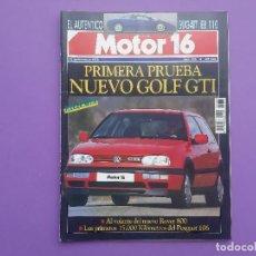 Coches: MOTOR 16 PRUEBA GOLF GTI DOS CAMPEONES DE ESPAÑA VILLAMIL Y SASIAMBARRENA FERRARI 512 GT AMERICA . Lote 195220883