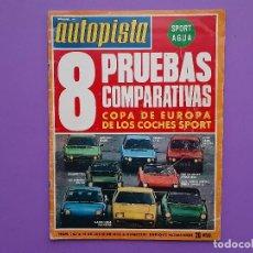 Coches: AUTOPISTA Nº 753 AÑO 1973 COPA DE EUROPA COCHES SPORT AUDI100-S PORSCHE 914 2 L 1ª ELIMINATORIA. Lote 195321452