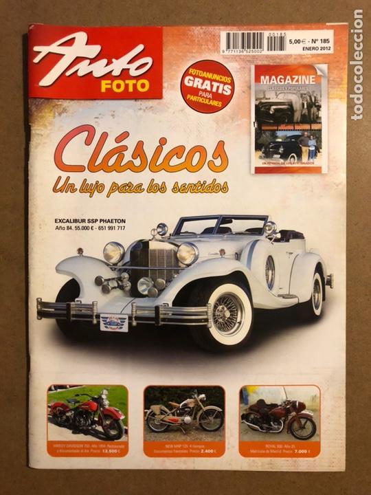AUTO FOTO N° 185 (2012). CLÁSICOS, HISTÓRICOS, DEPORTIVOS, MOTOS CLÁSICAS,... (Coches y Motocicletas Antiguas y Clásicas - Revistas de Coches)