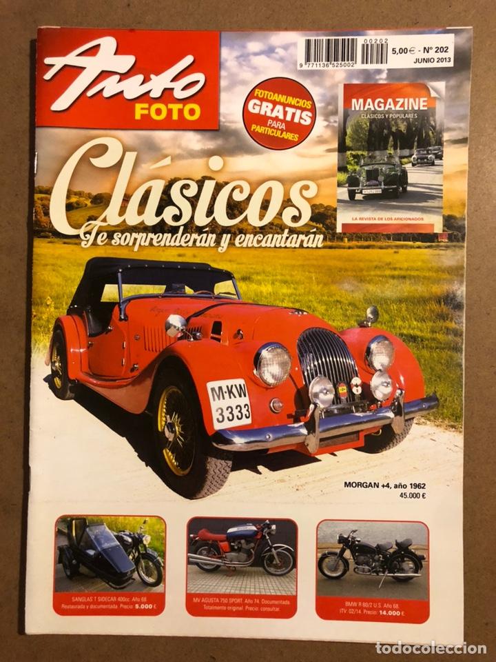 AUTO FOTO N° 202 (2013). CLÁSICOS, HISTÓRICOS, DEPORTIVOS, MOTOS CLÁSICAS,... (Coches y Motocicletas Antiguas y Clásicas - Revistas de Coches)