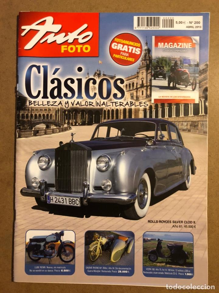 AUTO FOTO N° 200 (2013). CLÁSICOS, HISTÓRICOS, DEPORTIVOS, MOTOS CLÁSICAS,... (Coches y Motocicletas Antiguas y Clásicas - Revistas de Coches)