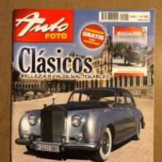 Coches: AUTO FOTO N° 200 (2013). CLÁSICOS, HISTÓRICOS, DEPORTIVOS, MOTOS CLÁSICAS,.... Lote 195344616