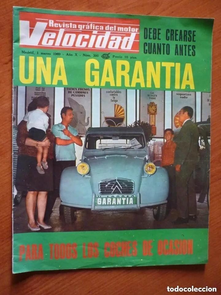 VELOCIDAD Nº 390 - 1969 (Coches y Motocicletas Antiguas y Clásicas - Revistas de Coches)