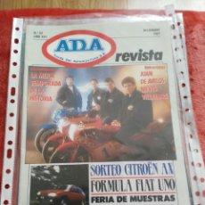 Coches: REVISTA ADA AYUDA DEL AUTOMOVILISTA N.52 AÑO 1987. Lote 195359666