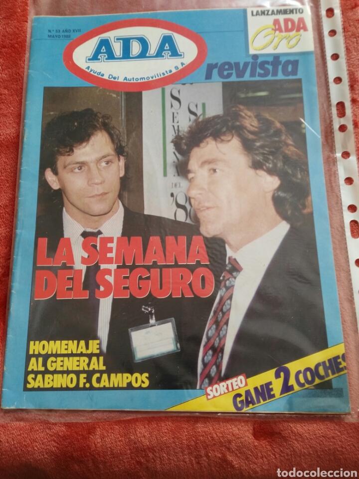 REVISTA ADA AYUDA DEL AUTOMOVILISTA N.53 AÑO 1988 (Coches y Motocicletas Antiguas y Clásicas - Revistas de Coches)