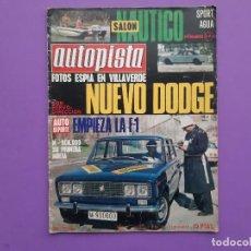 Coches: AUTOPISTA Nº.631/1971 PEGASO DUMPER 3075 RALLYE VASCO-NAVARRO TRIUNFA 124 SPORT COUPE . Lote 195377631