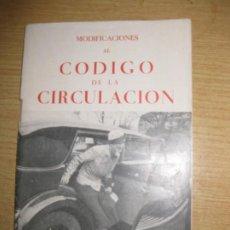 Coches: LIBRITO MODIFICACIONES AL CODIGO DE CIRCULACION 1934 . . Lote 195456302