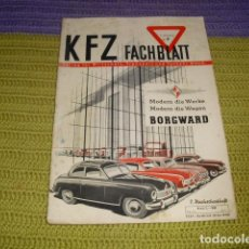Coches: K F Z FACHBLATT - 1951. Lote 195497318
