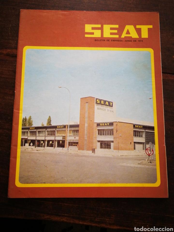 Coches: LOTE REVISTAS SEAT BOLETÍN DE EMPRESA (11 UNIDADES) COMPLETO! , AÑO 1974. - Foto 7 - 195720600