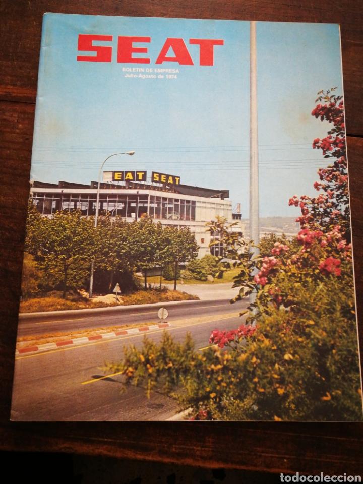 Coches: LOTE REVISTAS SEAT BOLETÍN DE EMPRESA (11 UNIDADES) COMPLETO! , AÑO 1974. - Foto 8 - 195720600