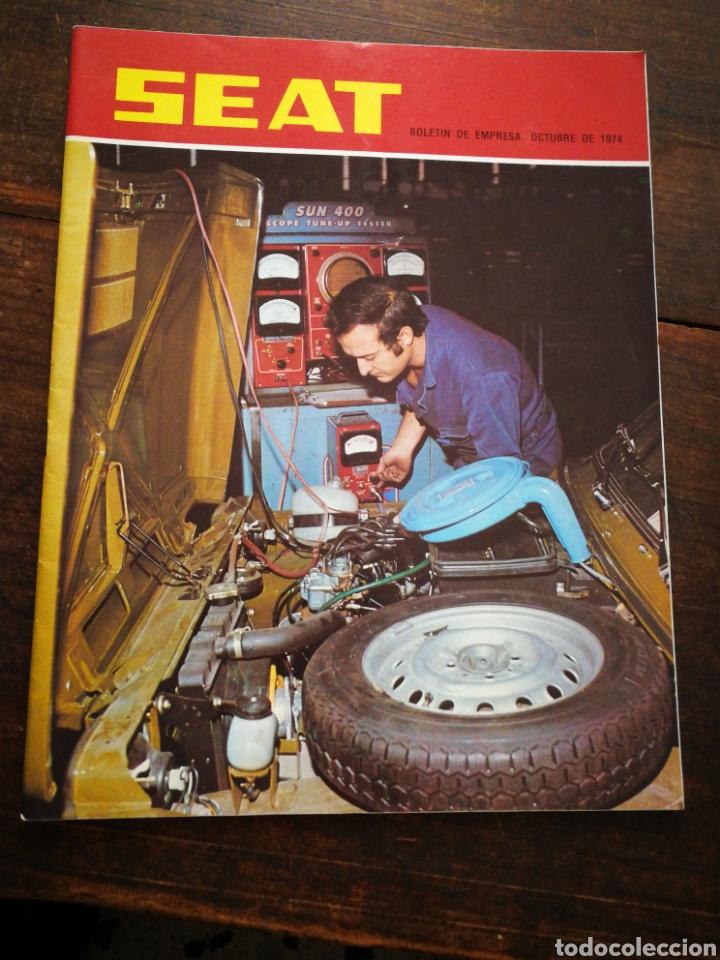 Coches: LOTE REVISTAS SEAT BOLETÍN DE EMPRESA (11 UNIDADES) COMPLETO! , AÑO 1974. - Foto 10 - 195720600