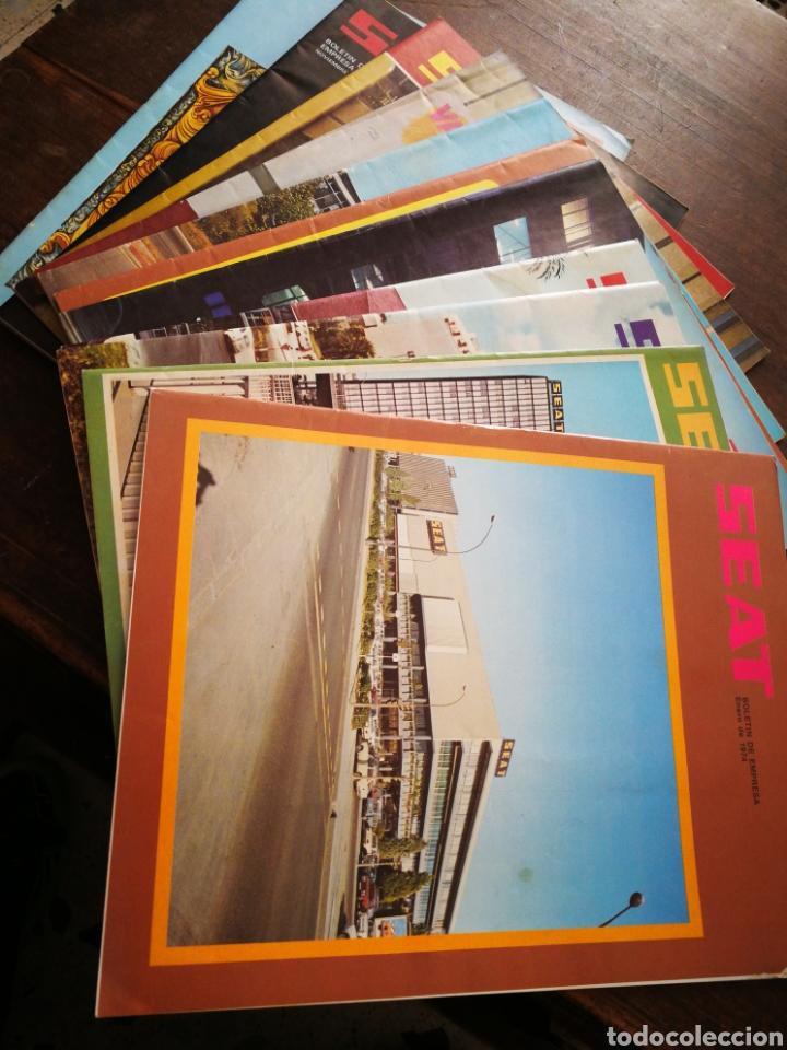 Coches: LOTE REVISTAS SEAT BOLETÍN DE EMPRESA (11 UNIDADES) COMPLETO! , AÑO 1974. - Foto 13 - 195720600