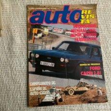 Carros: AUTO REVISTA Nº 1247 SEPTIEMBRE 1981 BANCO DE PRUEBAS: FORD CAPRI 2.8I. Lote 196136682