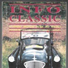 Coches: INFO CLASSIC Nº 38 MAIG 2001, CLASSIC MOTOR CLUB DEL BAGES. ESPECIAL MICROCOTXES, 76 PAGINAS. . Lote 197159776