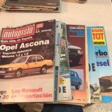 Coches: LOTE DE 23 REVISTAS AUTOPISTA AÑO 1981. Lote 197565390