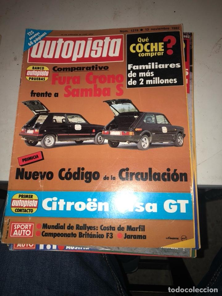 Coches: Lote de 7revistas autopista año 1982 - Foto 4 - 197566500