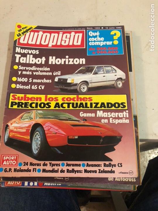 LOTE DE 7REVISTAS AUTOPISTA AÑO 1982 (Coches y Motocicletas Antiguas y Clásicas - Revistas de Coches)
