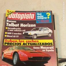 Coches: LOTE DE 7REVISTAS AUTOPISTA AÑO 1982. Lote 197566500