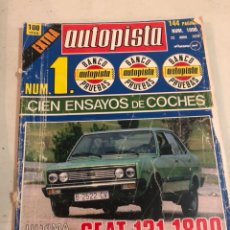 Coches: REVISTA AUTOPISTA EXTRA 1978. Lote 197570172