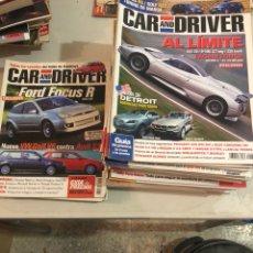 Coches: LOTE DE 30 REVISTAS CAR AND DRIVER, AÑOS 90 Y 2000-1-2. Lote 197579641
